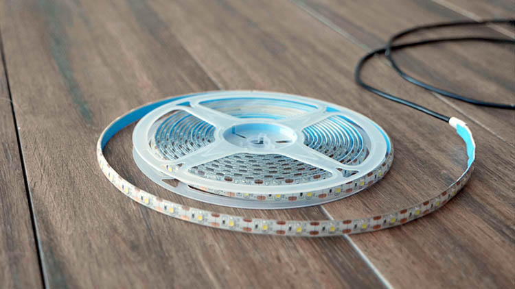 Flexible, cuttable, adhesive USB LED light strip.