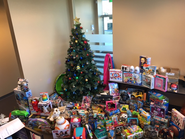 2017 toy drive sales & marketing tree